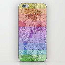 Rainbow World Map II iPhone Skin