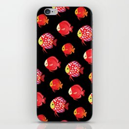 Red discus iPhone Skin