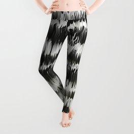Black White Wavelength Leggings