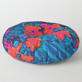 Watercolor Days Floor Pillow
