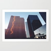 houston Art Prints featuring Houston by Jorieanne