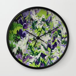 Nature Orchid Garden Wall Clock