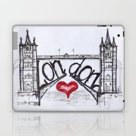 London with love Laptop & iPad Skin