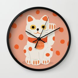 Abstraction_Lucky_Charm_Cat Wall Clock