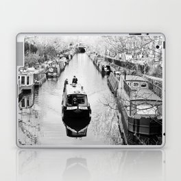 London canal during winter Laptop & iPad Skin