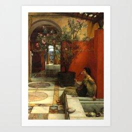 "Sir Lawrence Alma-Tadema ""An Oleander"" Art Print"