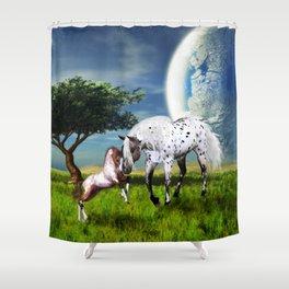 Horses Love Forever Shower Curtain