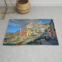 Cinque Terre, Italy (Houses on the Cliff) Rug