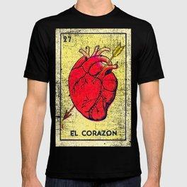 El Corazon Mexican Loteria Bingo Card T-shirt