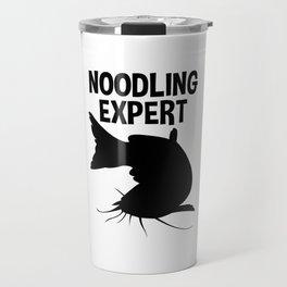Noodling Expert T Shirt Catfish Fishing Hands Only Travel Mug