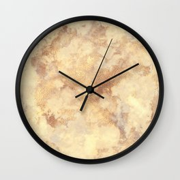 Elegant vintage faux gold boho chic marble Wall Clock