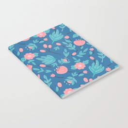 Blue florals Notebook