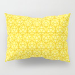 d20 Icosahedron Honeycomb Pillow Sham
