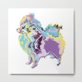 Mighty Puppy Pomeranian Metal Print