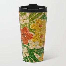Limahuli Garden Hawaiian Floral Design Metal Travel Mug