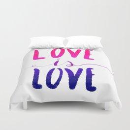 Love is Love - bi Duvet Cover