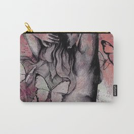 Sugar Coated Sour: Pomegranate (nude curvy pin up with butterflies) Carry-All Pouch