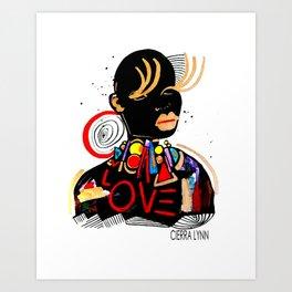 Black Love Art Print