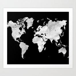Design 70 world map Art Print