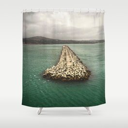A Dream of Greece Shower Curtain