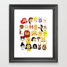 Princess Alphabet Framed Art Print
