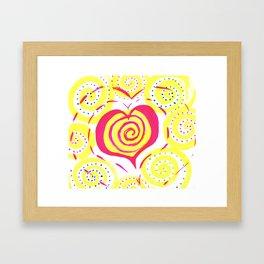 heart vibes Framed Art Print