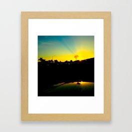 Sunrise Fire Framed Art Print