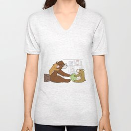 Reading is fun Unisex V-Neck
