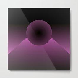 Black and pink fade Metal Print