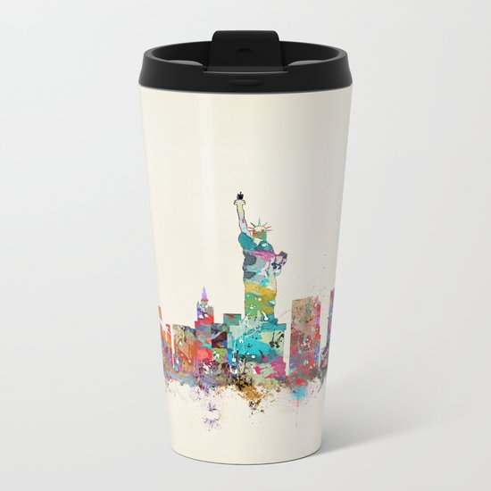 new york city skyline Metal Travel Mug