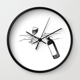 Wine connecting people. Wall Clock
