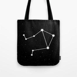 Libra Star Sign Night Sky Tote Bag