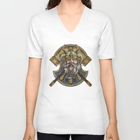 viking V-neck T-shirts featuring Viking by Spooky Dooky