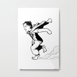 A towell is a cape... Metal Print