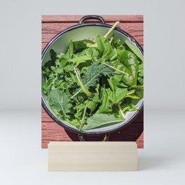 Green Salad Bowl Mini Art Print