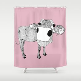 Cowface Shower Curtain