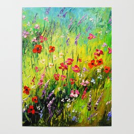 Blooming field Poster