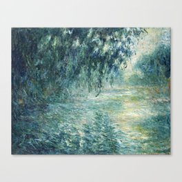 1898-Claude Monet-Morning on the Seine- 73 x 91 Canvas Print