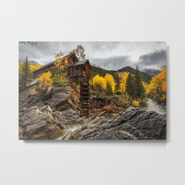 CRYSTAL MILL COLORADO IN FALL PHOTO - AUTUMN IMAGE - MOUNTAIN PICTURE - LANDSCAPE PHOTOGRAPHY Metal Print