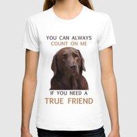 labrador T-shirts featuring Chocolate Labrador by Nojjesz