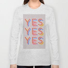 YES - typography Long Sleeve T-shirt