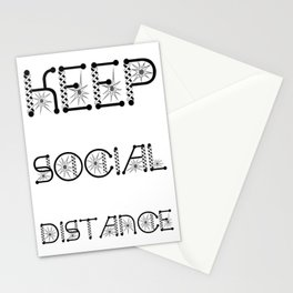 Keep Social Distance Virus Awareness Design Stationery Cards
