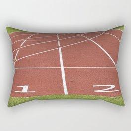 Athletics running racecourse Rectangular Pillow