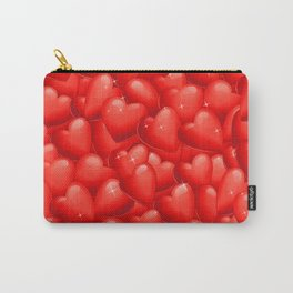 Red Hearts Pattern.Red Hearts Overlapping. Valentine. Hearty Hearts. Love Hearts Carry-All Pouch