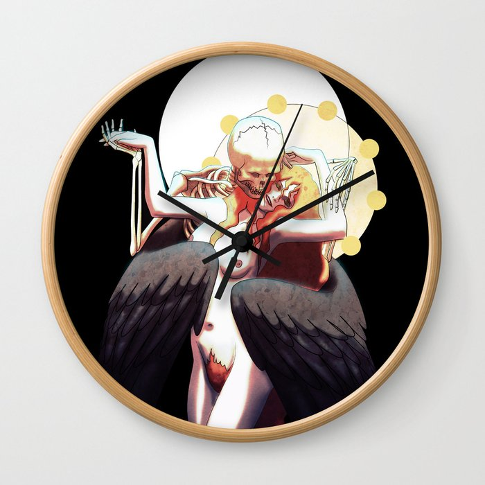 The Lady and Death Wall Clock