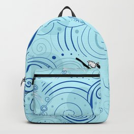 surfing farm animals Backpack