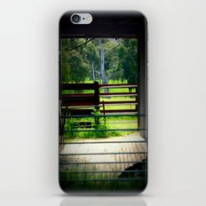 Looking through an old cattle Shed iPhone & iPod Skin