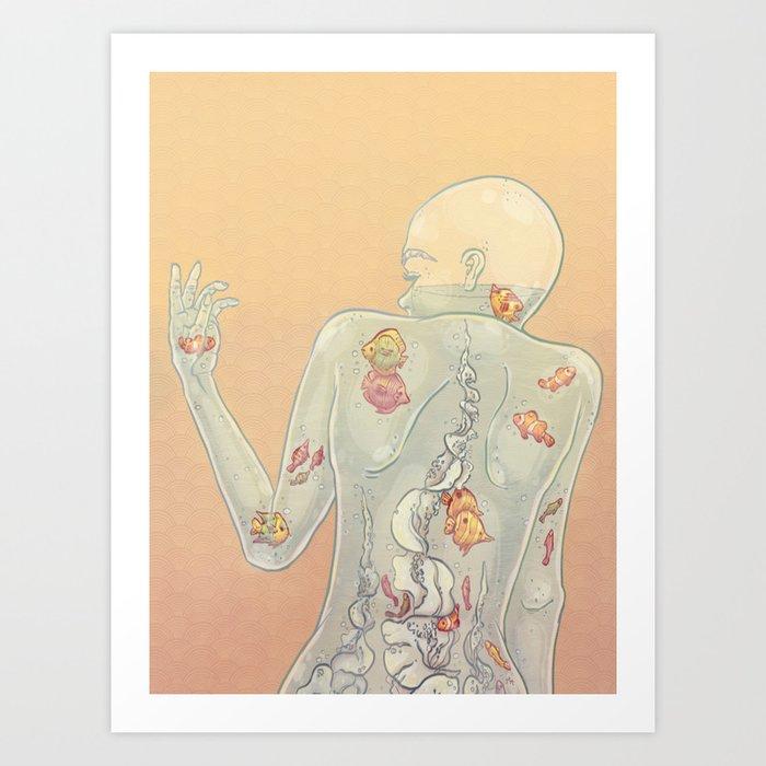 Aquarius Lady Art Print