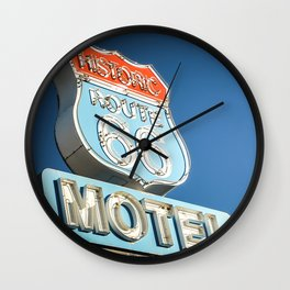 route 66 motel Wall Clock