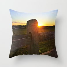 Dusk on the Farm Throw Pillow